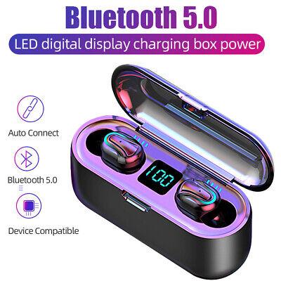 Q32 Mini Auriculares Bluetooth 5.0 TWS Inalámbrico LED Impermeable + Caja Carga 2