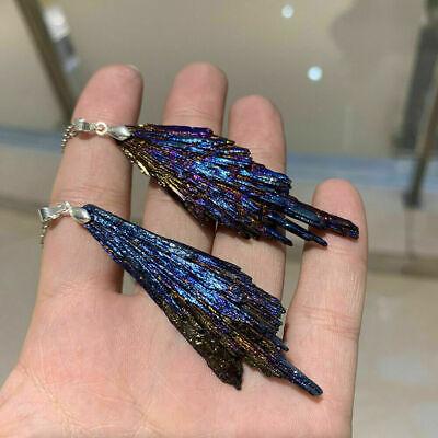 Natural Crystal Pendulum Quartz Stone Pendant Chakra Healing Gemstone Necklace 6