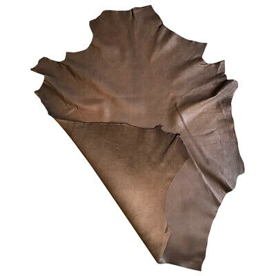 SALE Brown Leather Hides Genuine LambSkin Camouflage Print Soft Craft Fabric 898