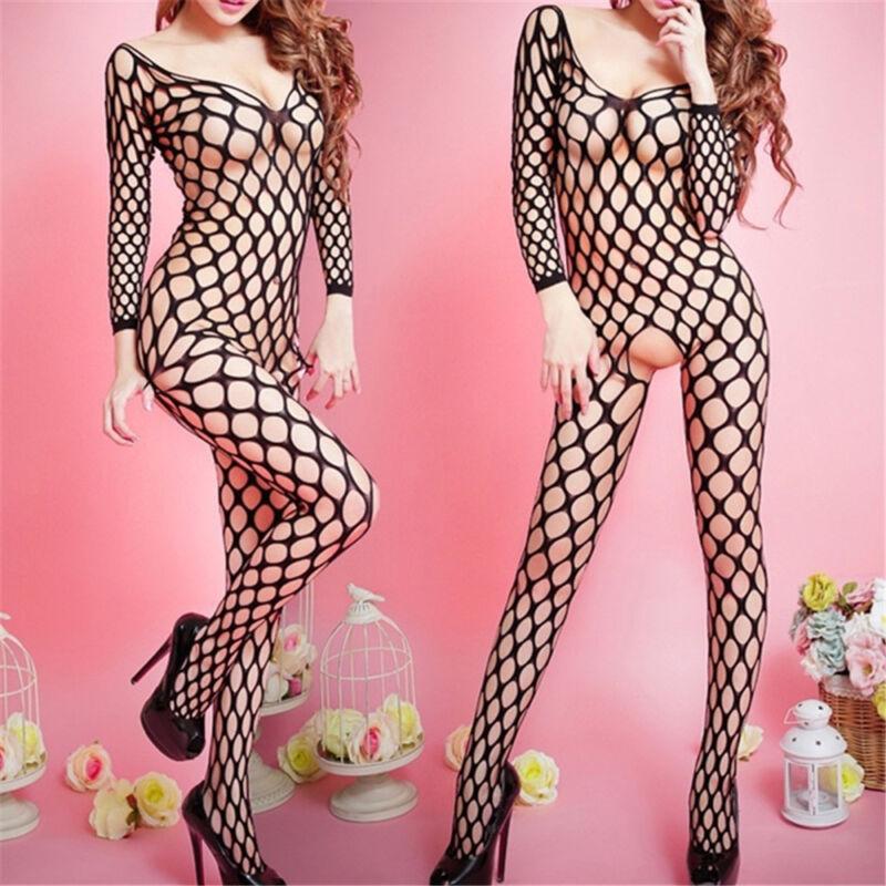 One Size  Sexy Wild Mesh Fishnet  Whole Body Black Stockings Clothing Underwear 2
