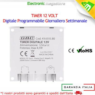 Timer Digitale Programmabile 12V 12 Volt Come Guida Din Caccia Nautica E Solare 2