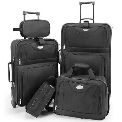 Kofferset Reisekoffer 5 Taschen Trolley Reise Koffer Set Tasche S M L XL schwarz 7