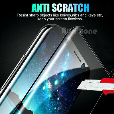 6D FULL COVER Tempered Glass Samsung Galaxy S9 S8 Plus Note 9 8 Screen Protector 4