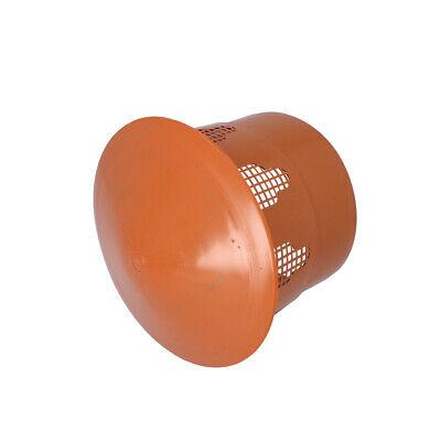 Entlüftungshaube Dunsthut Dachentlüfter 110mm 160mm Orange NEU