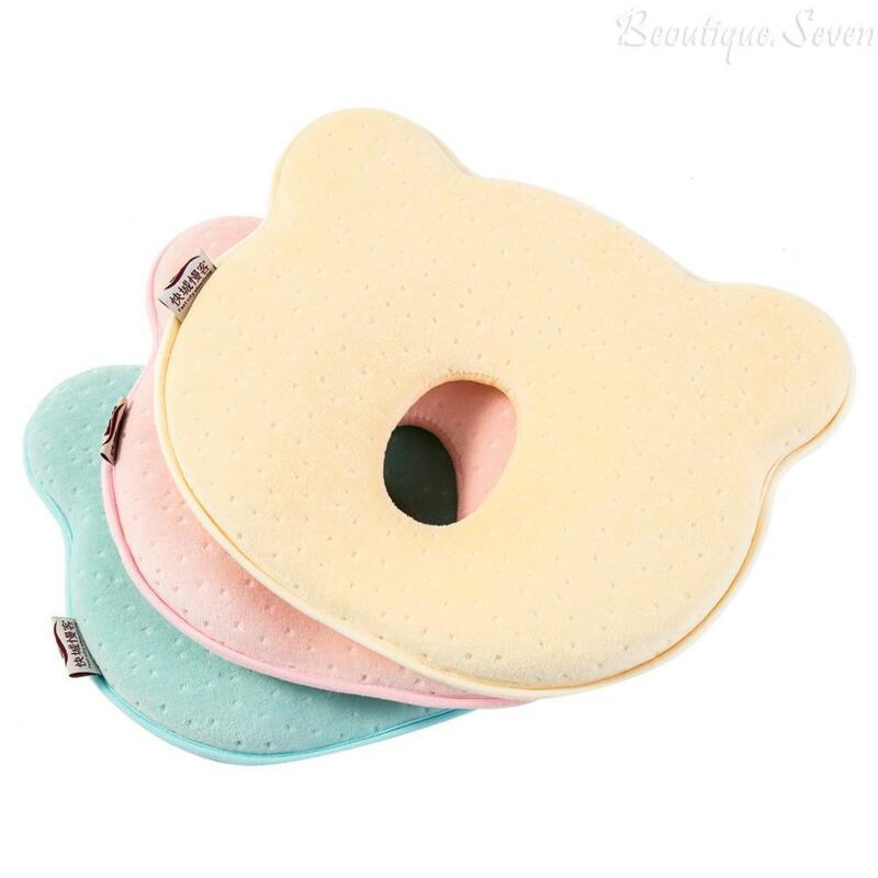 Soft Baby Cot Pillow Preventing Flat Head Neck Syndrome (Plagiocephaly) UK