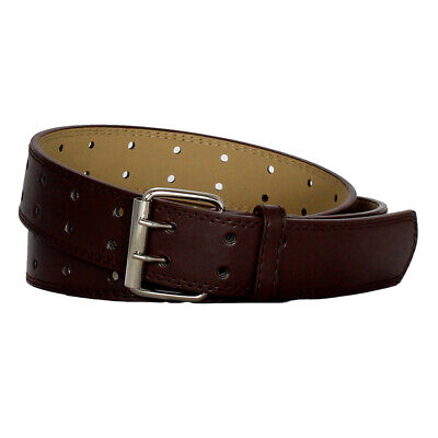 Double Prong 2/Row Full Grain Leather Dress Belt For Men - Available in 4 Colors 5