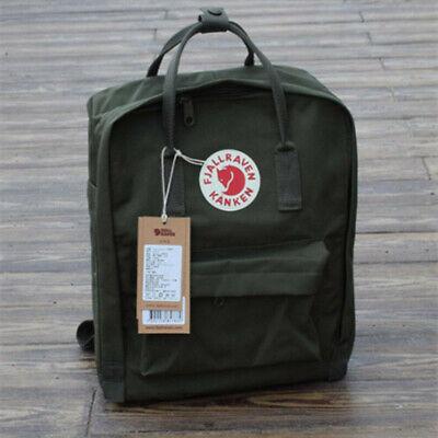 7L/16L/20L Fjallraven Kanken Canvas Backpack Sport Travel Shoulder Bag Rucksack 11
