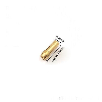 10 x Brass Collet Bit Drill Chuck Set 0.5-3.2mm For Dremel Rotary Tools 4.8mm 5