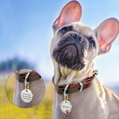 Personalized Dog Tags Paw Rhinestone Pet Cat ID Name Tag Engraved Free Hair Bows 12