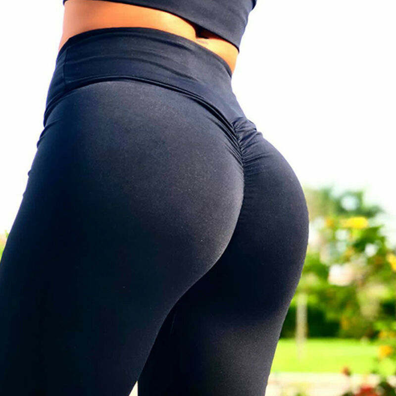 Women's Yoga Pants PUSH UP Fitness Leggings Sports Scrunch Stretch Trousers G78 4