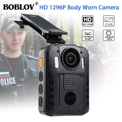 HD 1296P Security Body Worn Camera DVR Police Video Night Vision 170° Waterproof 2