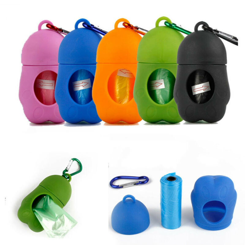 Dog Poop Waste Bag Holder Dispenser With Lead Attachement Plastic Dog poo Bags 2