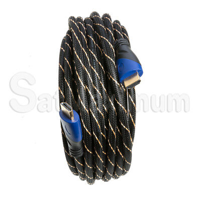 HDMI HIGH SPEED CABLE PREMIUM 1.4 Mesh Wire BLURAY 3D DVD HDTV Gold Plated - LOT 4