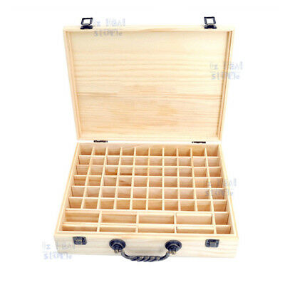 70 Slot Aromatherapy Essential Oil Storage Box Wooden Case Container Holder OZ 3
