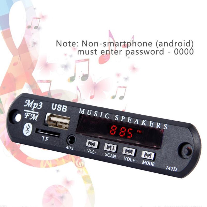 Inalámbrico Bluetooth 12V MP3 WMA decodificador tarjeta  audio módulo USB radio 5