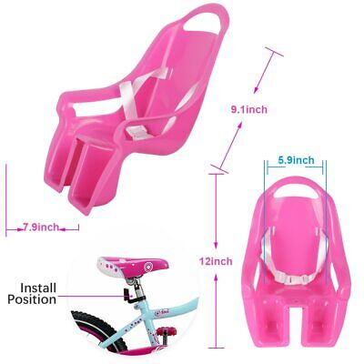 Bike Doll Carrier Seat Kids Girls Seats Post Dolls Holder Stickers Bicycle Kit 8