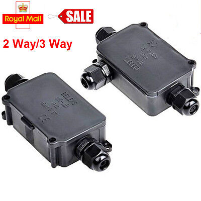 2 3 4 5 6 Way IP68 Waterproof Electrical Cable Wire Connector Junction Box UK