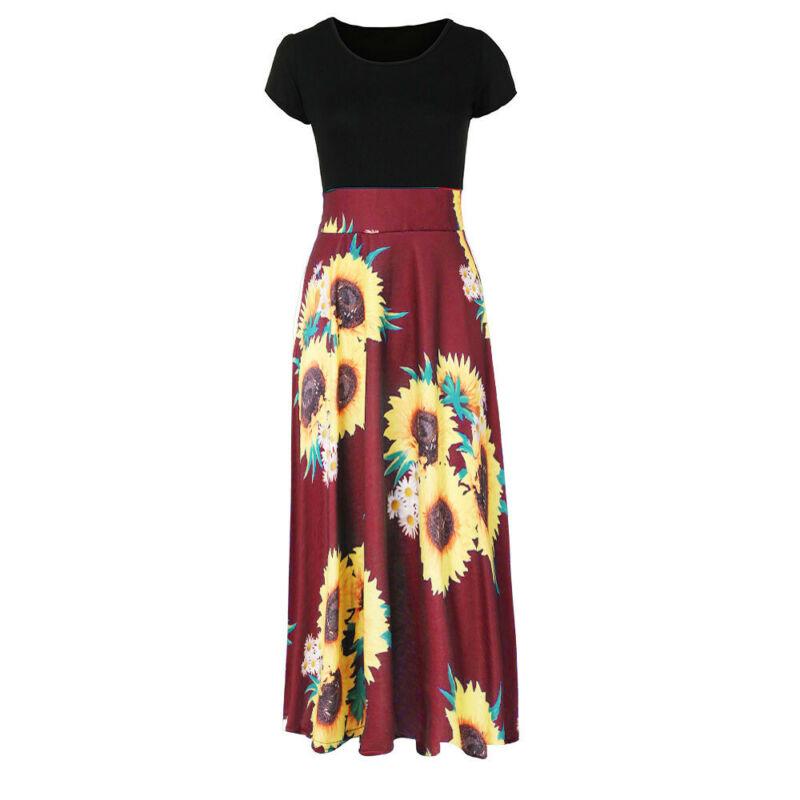 Women Summer Boho Long Maxi Dress Evening Cocktail Party Beach Dresses Sundress 9