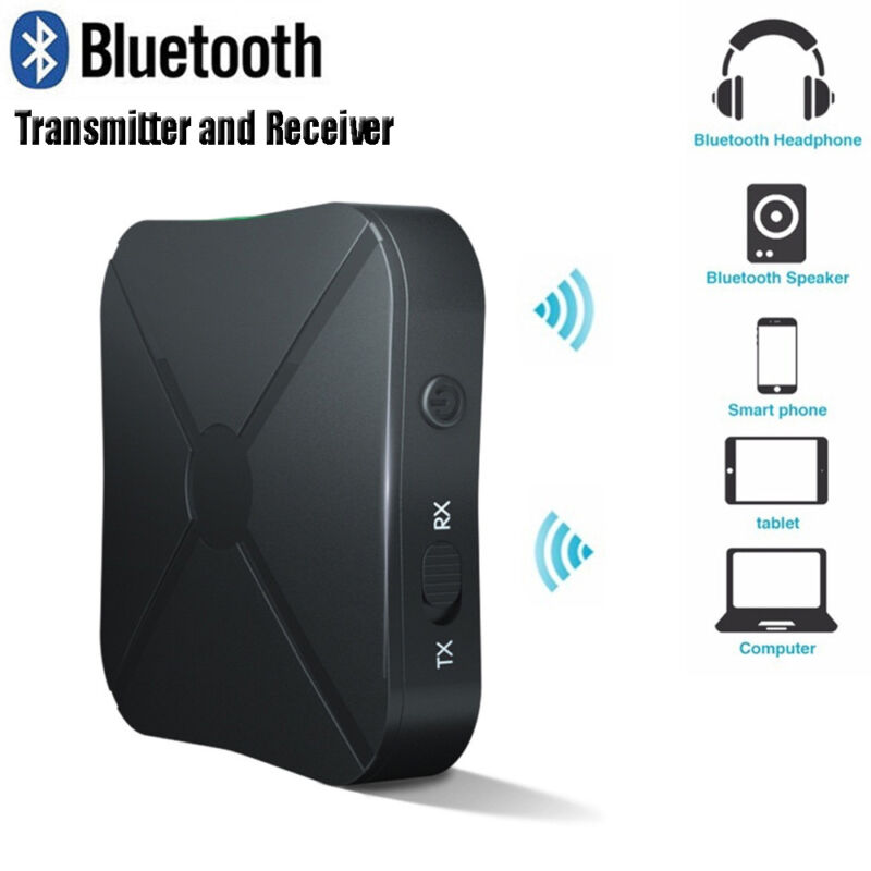 Wireless Bluetooth Audio Transmitter Receiver Stereo Music Adapter RCA AUX~ 2