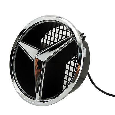 Illuminé LED lumière Emblème Logo Grille LED Badge Avant pour Mercedes Benz NEUF 2