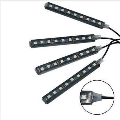 AU 4x9LED Auto Car Interior Accessories Floor Decorative Light Atmosphere Lamp 4