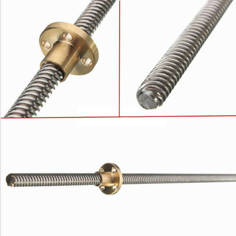 8mm Lead 2mm Pitch T8 Nut 3D printer Axis Trapezoidal Lead Screw Threaded Rod