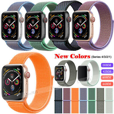 For Apple Watch Series 4/3/2/1 Nylon Sports Loop iWatch Band Strap 38/40/42/44mm 3