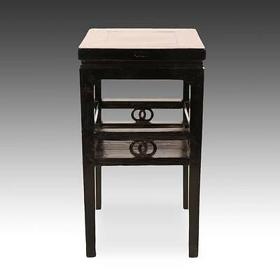 Antique Chinese Qing Side Table Lacquered Elm Wood Furniture China 19Th C. 3
