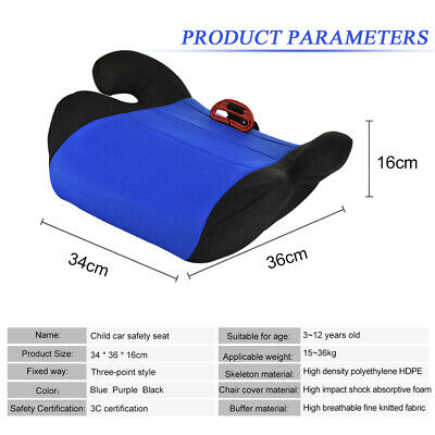 Car Booster Seat Chair Cushion Pad For Toddler Children Kids Sturdy 3-12 Years 5