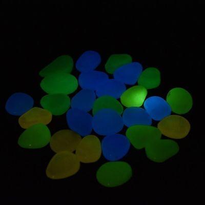 100pcs Garden Decoration Glow In The Dark Luminous Pebbles Stones Wedding Party 6