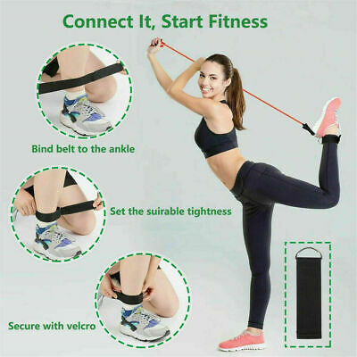 Resistance Loop Bands set of 5 POWER GYM FITNESS EXERCISE YOGA WORKOUT PULL UP 3
