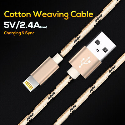 1M 2M 3M USB Lightning Charger Cable Cord Data for Apple iPhone iPad iPod Air 7