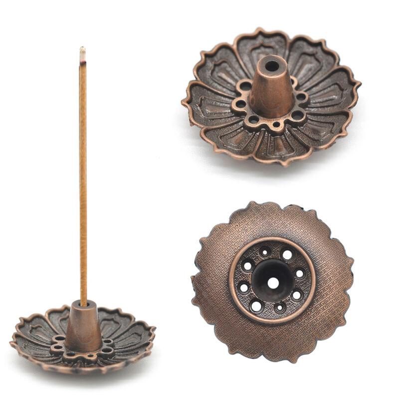 Lotus Incense Burner Holder Flower Statue Censer Plate For Sticks&Cone 9Hole 3