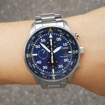 Citizen Eco Drive Ca0690 88l Aviator Chronograph Mens Watch 44mm 256 00 Picclick