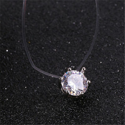 Fashion Crystal Necklace Invisible Line Zircon Clavicle Chain Women Accessories 6