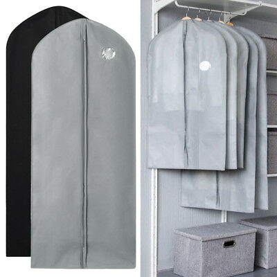 1/5/10Pc Garment Suit Bags Dress Clothes Coat Cover Breathable Protector Storage 2