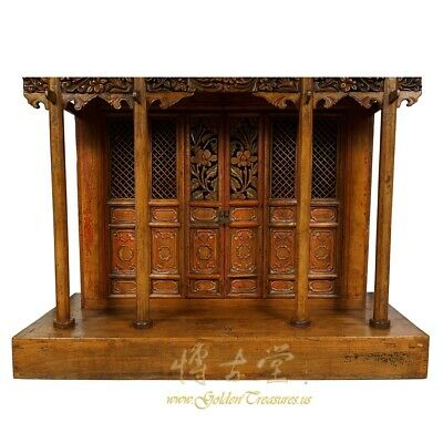 19 Century Antique Chinese Wooden Carved Altar/Buddha House/Shrine 6