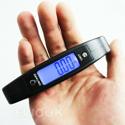 Electronic Digital Portable Scale Luggage Weight Hanging Travel 50 KG 10G AU 7