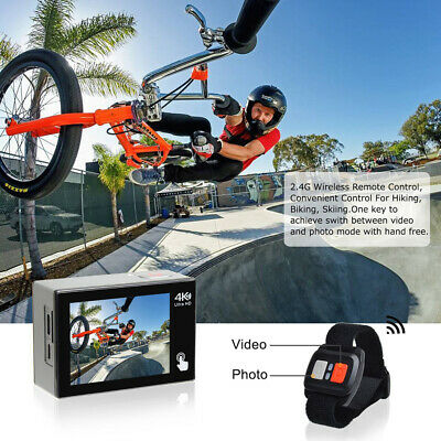 Campark X20 Action Cam 4K TouchScreen Sport Camera WIFI 20MP 170° Remote Control 3