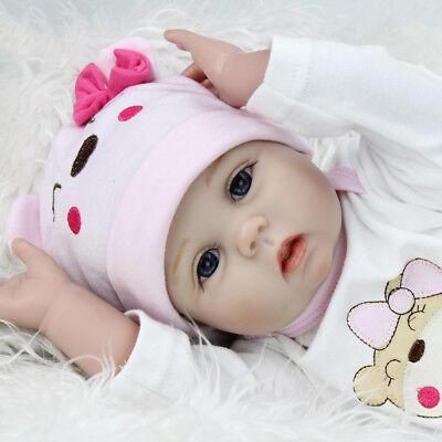 22'' Reborn Baby Dolls Realistic Vinyl Silicone Newborn Girl Doll Handmade Gifts 11