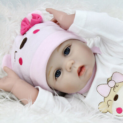 Reborn Dolls Real Baby Doll Realistic Silicone Vinyl Lifelike Gifts 16'' Dolls 2