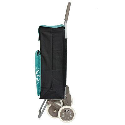 Carro de la compra 4 ruedas 2 bolsillos uno de congelados negro verde envio 24h 4