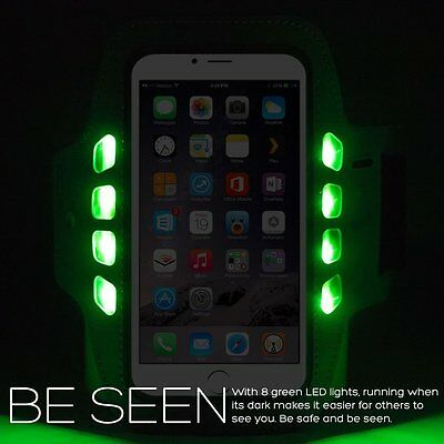 Flashing LED Sports Jogging Running Gym Armband iPhone 6/6S Cover Pink