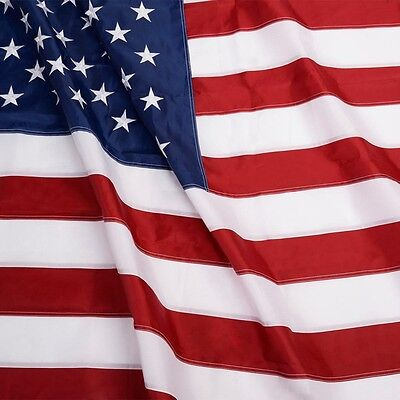 4'x6' ft American Flag Sewn Stripes Embroidered Stars Brass Grommets USA US U.S. 5
