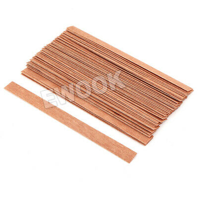 50X Wooden Candle Wicks Core Supplies With Sustainer DIY Soap Making for Party 3