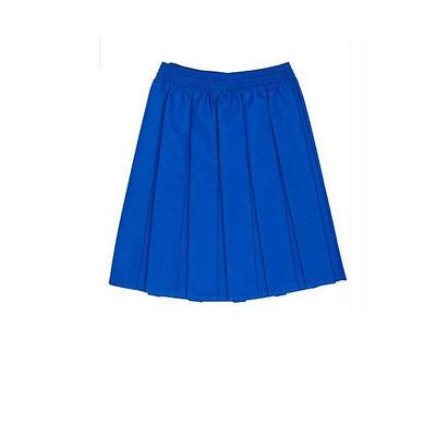 New Girls School  Box Pleated Elasticated Waist Skirt Kids School Uniform 7