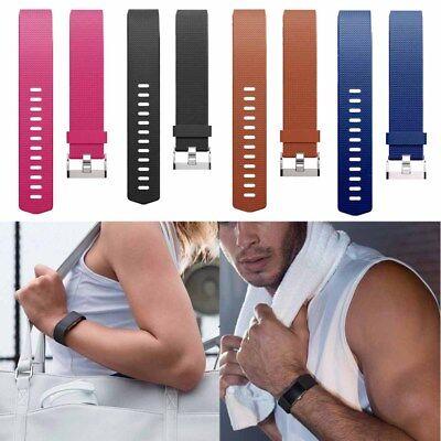 Für Fitbit Charge 2 Aktivitäts Schlaf Silikon Sport Armband Ersatz Band S L 6