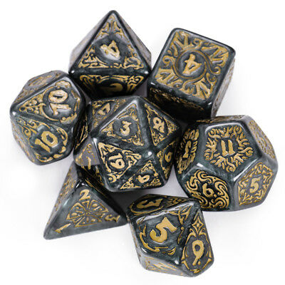 Titan Dice: Nyx | 7 Giant Polyhedral Dice Set in Wooden Box | 25mm Jumbo Dice 3