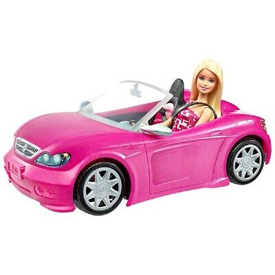 Barbie Convertible Pink Car and Doll   Glam Doll Set   Official Barbie 2