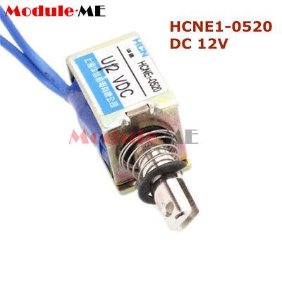 DC6V/12V/24V Push Pull Type Open Frame Solenoid Electromagnet Reset 10mm 5N/2N 2